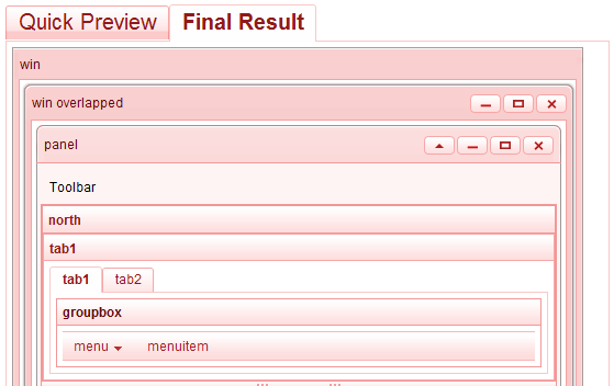 Preview result
